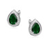 Rhodium-plated \ Emerald