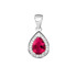 Rhodium-plated \ Ruby