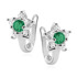 Rhodium plated \ Emerald