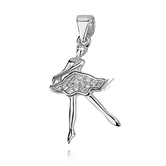 Silver 925 ballerina pendant with zirconia rhodium plated silver silver 925 ballerina pendant with zirconia aloadofball Choice Image