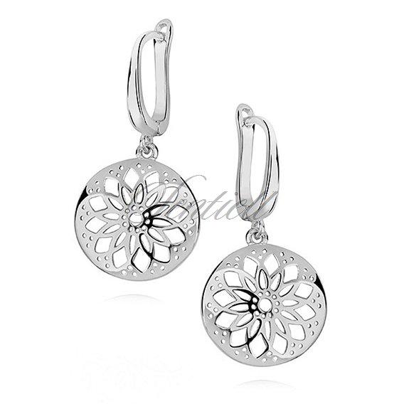 d3deabe95c7afb Srebrne kolczyki kółeczka ażurowe - Biżuteria srebrna Kolczyki ...
