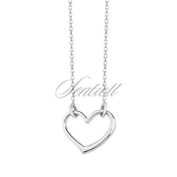 e9fd8b01bd839d Srebrny naszyjnik pr.925 z zawieszką sercem - Biżuteria srebrna ...
