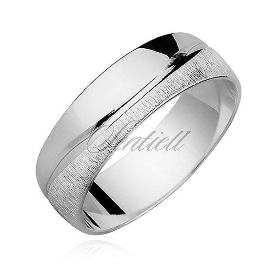 315a3df06a8c86 Srebrna obrączka pr.925 satynowana fala - Biżuteria srebrna ...