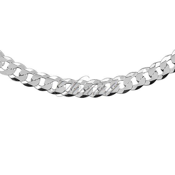 4a6382fc872b6b Silver (925) diamond-cut chain - curb extra flat rhodium-plated 7,5 mm | Silver  Jewellery \ Silver Chains \ Men \ Curb | 11246 | Jewelry | Jewelry online  ...