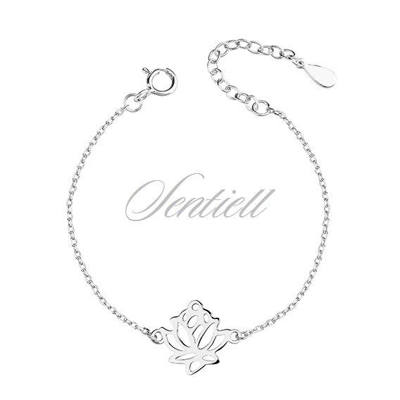 Silver 925 bracelet lotus flower rhodium plated silver jewellery silver 925 bracelet lotus flower mightylinksfo