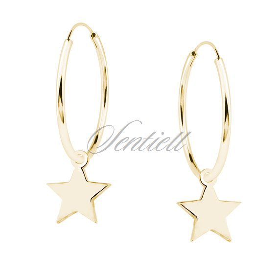 28d745437c7a8 Silver (925) gold-plated earrings hoop with stars