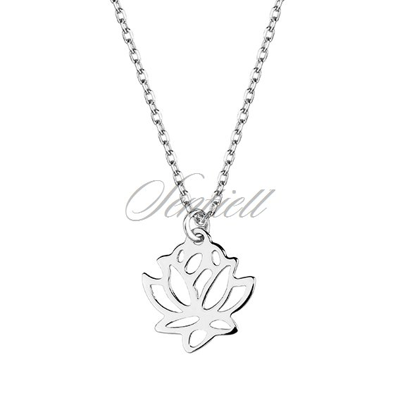 Silver 925 necklace lotus flower rhodium plated silver jewellery silver 925 necklace lotus flower mightylinksfo