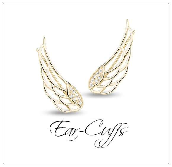 Silver Cuff Earrings - Ear Cuffs