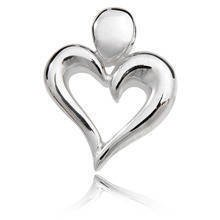Silver (925) Pendant heart with bold shores