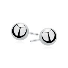 Silver (925) earrings balls - highly polished