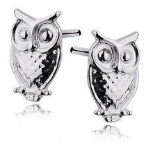 Silver (925) earrings birds / owls