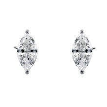 Silver (925) earrings marquise white zirconia