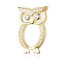 Silver (925) gold-plated Owl pendant with zirconia
