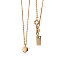 Silver (925) necklace with heart pendant gold-plated