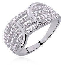 Silver (925) ring white zirconia