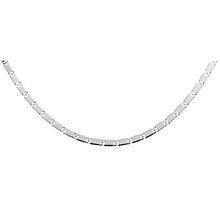Silver chain (925) rhodium-plated