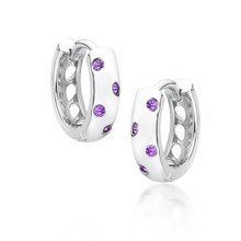 Rhodium-plated \ Violet