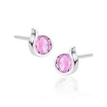 Rhodium-plated \ Pink