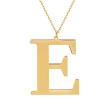 Yellow gold-plated \ E
