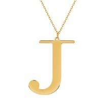 Yellow gold-plated \ J