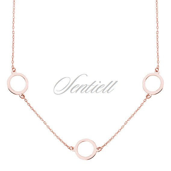 c0c01eace Silver (925) rose gold-plated necklace - three circles Rose gold-plated | Silver  Jewellery \ Necklaces \ Without stone | 12289 | Jewelry | Jewelry online ...