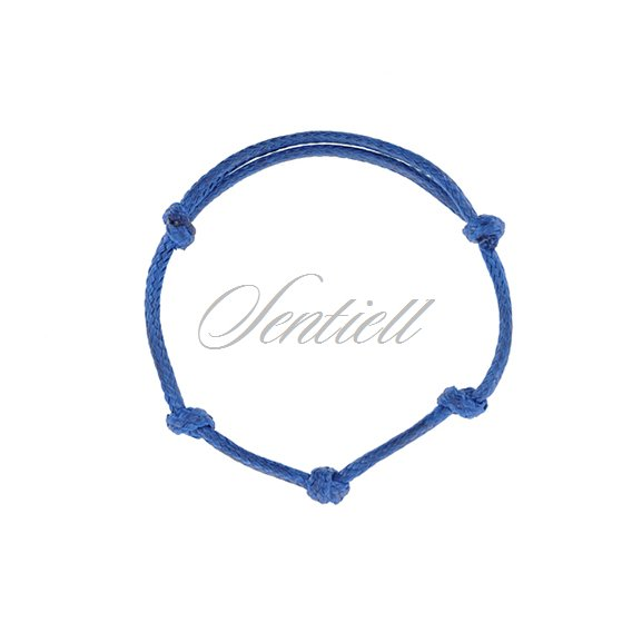 Base bracelet for flat charms - blue polished