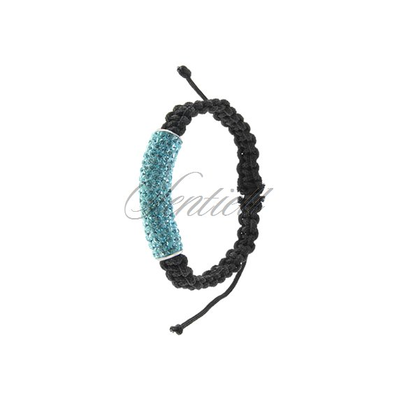Rope bracelet (925) light blue tube