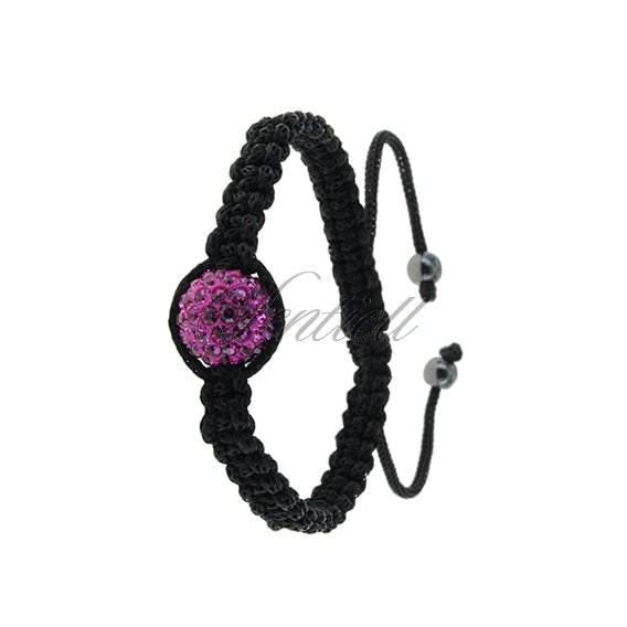 Rope bracelet (925) pink 1 disco ball