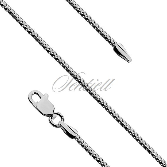 Silver (925) Etrusca 8L chain  Ø 0140 - rhodium plated