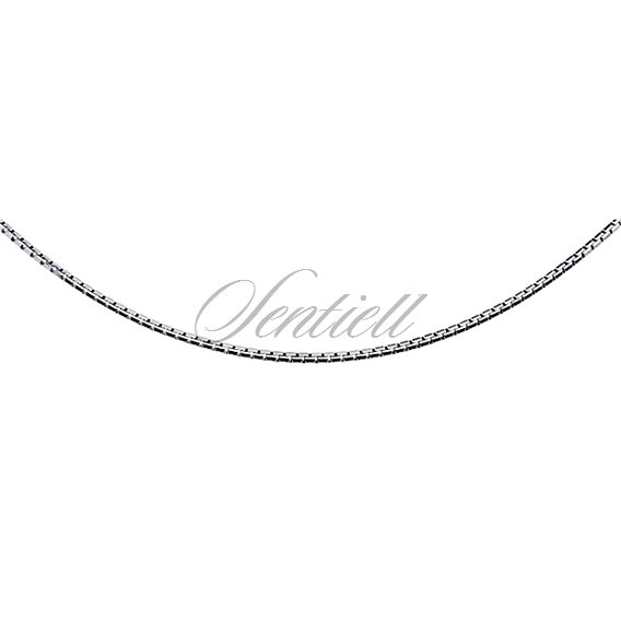Silver (925) Venetian box chain Ø 020, diamond-cut - rhodium-plated