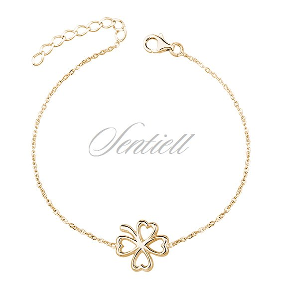 Gold Plated Clover Bracelet