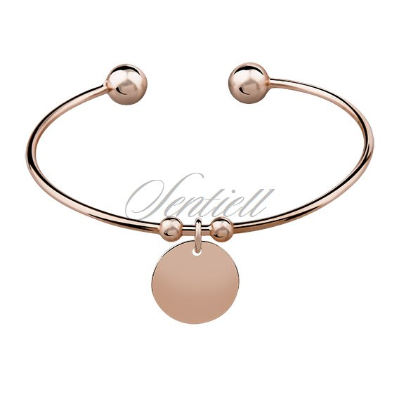 Silver (925) bracelet gold-plated round pendant