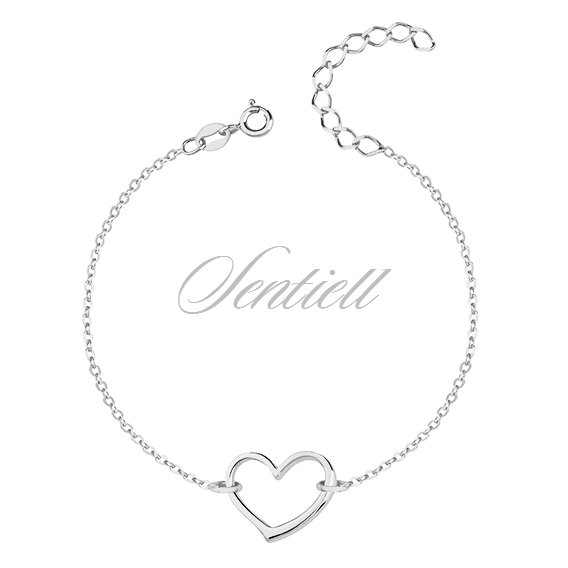 Silver (925) bracelet of celebrities with heart