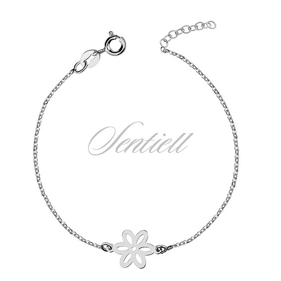 Silver (925) bracelet with flower