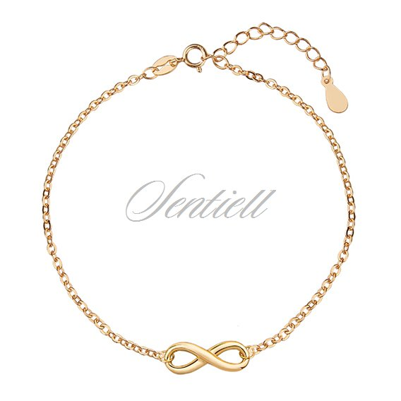Silver (925) bracelet with gold-plated Infinity