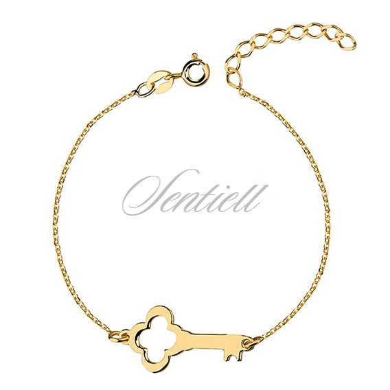 Silver (925) bracelet with gold-plated key
