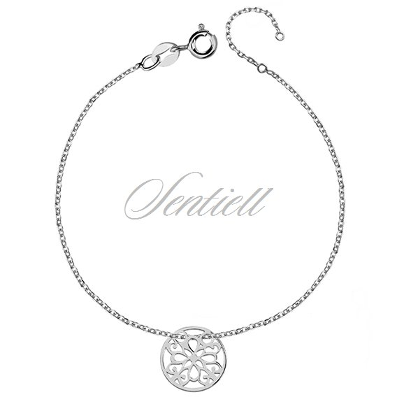 Silver (925) bracelet with open-work circle