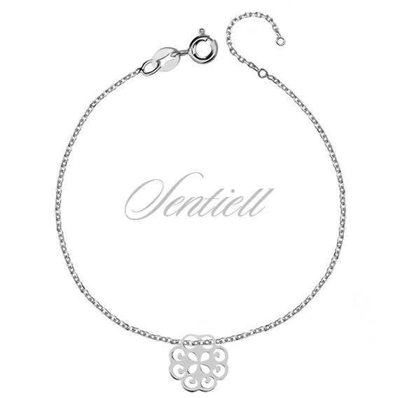 Silver (925) bracelet with open-work pendant