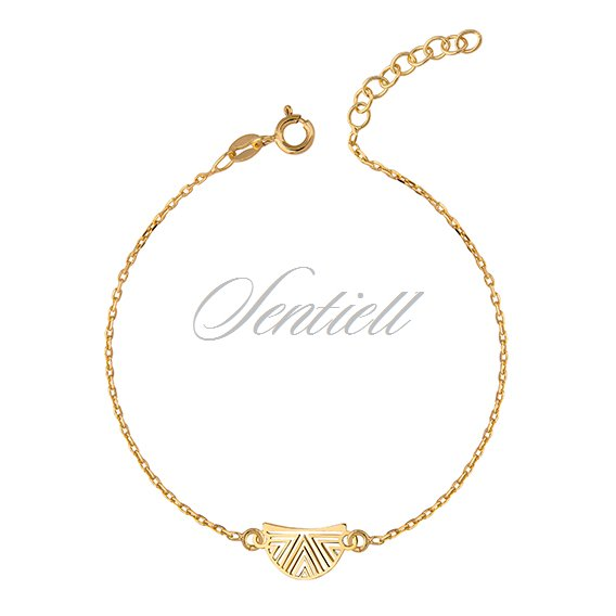 Silver (925) bracelet with open-work pendant - gold-plated