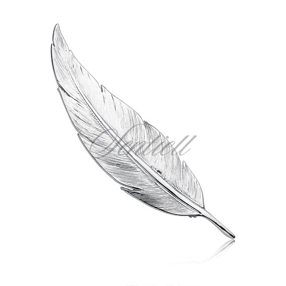 Silver (925) brooch feather
