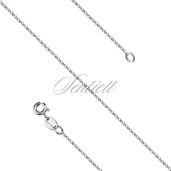 Silver (925) chain Rolo belcher rhodium-plated