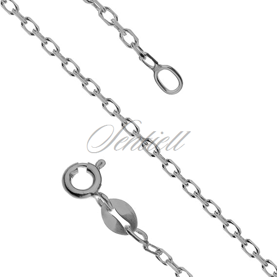 Silver (925) chain Rolo diamond cut, oxidized