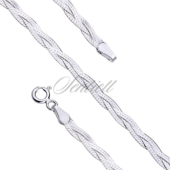 Silver (925) chain bracelet Ø 024 weight from 1,4g
