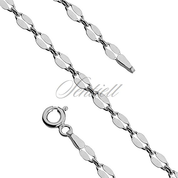 Silver (925) chain bracelet  coffee Ø 060 weight from 1,6g
