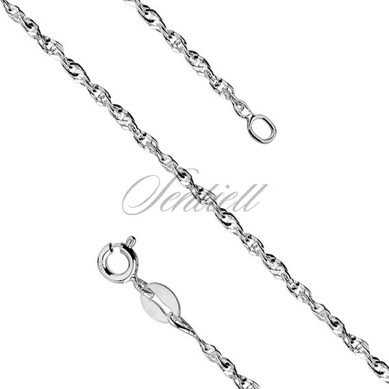 Silver (925) chain bracelet singapur diamented Ø 040 weight from 1,3g