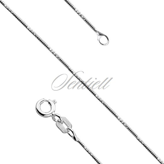 Silver (925) chain diamond cut round  Ø 020