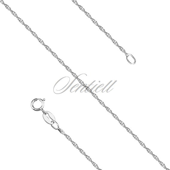 Silver (925) chain loose rope rhodium-plated