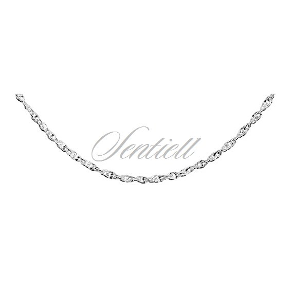 Silver (925) chain necklace Singapur diamond cut chain Ø 050 weight from 3,8g