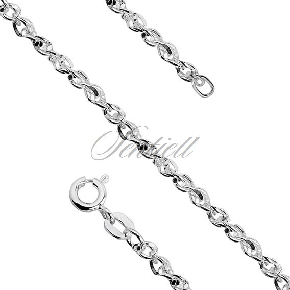 Silver (925) chain necklace Singapur diamond cut chain Ø 065 weight from 7,0g