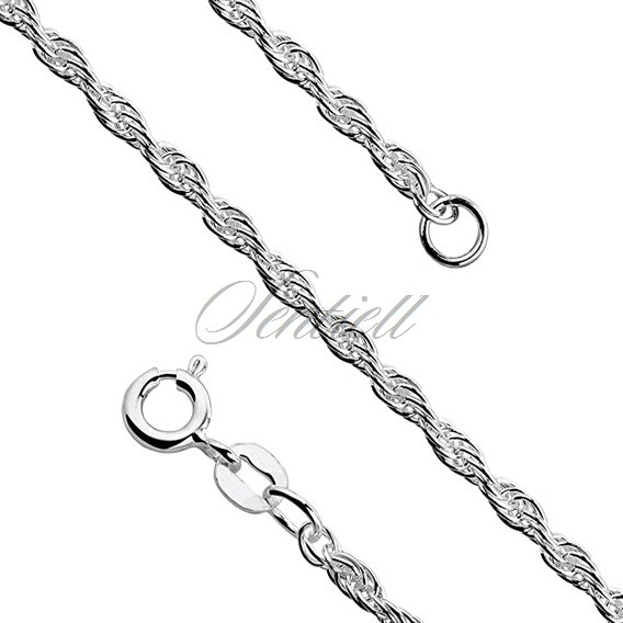 Silver (925) chain necklace  - triple anchor  Ø 045